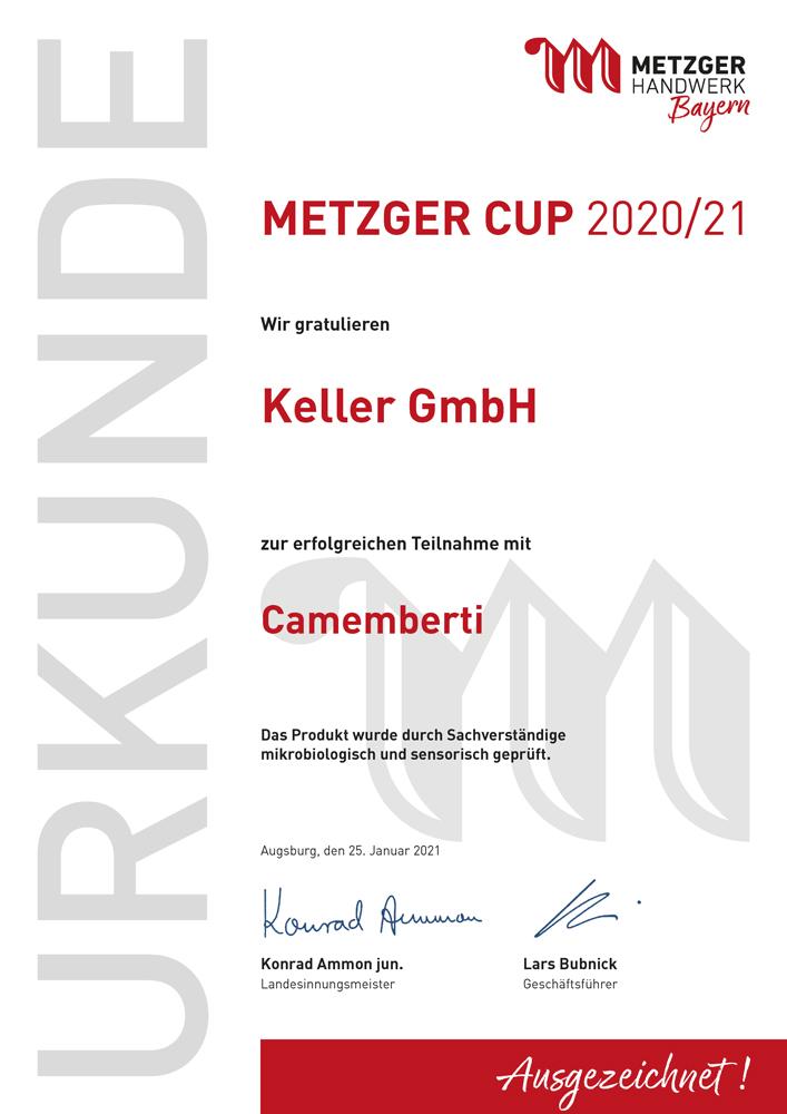Metzgerinnung_Urkunde_Metzger Cup_ 2020_2021_Keller_Camemberti